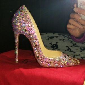 Christian louboutin dregaspike Swarovski heels